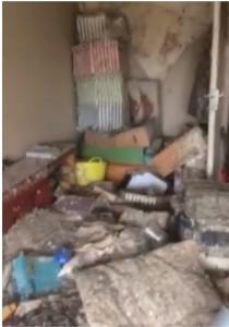 Twineham Bedroom before clearing